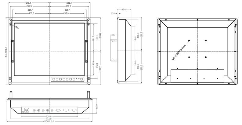panel mount enclosure