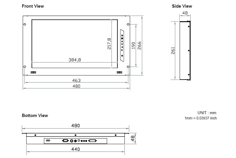 6u High Rack Mount Monitor With 17 3 Inch Full Hd Lcd Panel