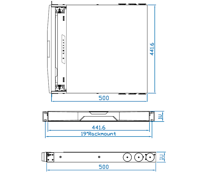 19 inch 1280 x 1024 rackmount monitor drawer.