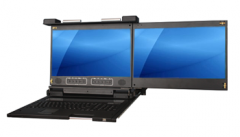 "17.3"" Dual LCD Rack Console Drawer - KD8173D"