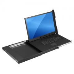 "1U 23.8"" 4K Rack LCD Console w/ 8-Port HDMI USB KVM Switch - KD84230"