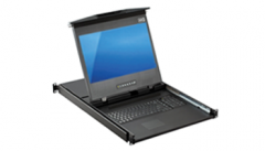 Dual Slide LCD Console Drawer with an 8 Port KVM Switch