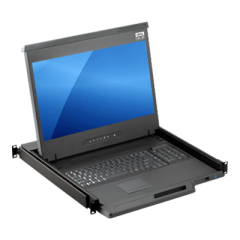 "1U 17.3"" Full HD Rackmount LCD KVM Console Drawer with Cat6 / Matrix Cat6 KVM Switch - MKD6217"