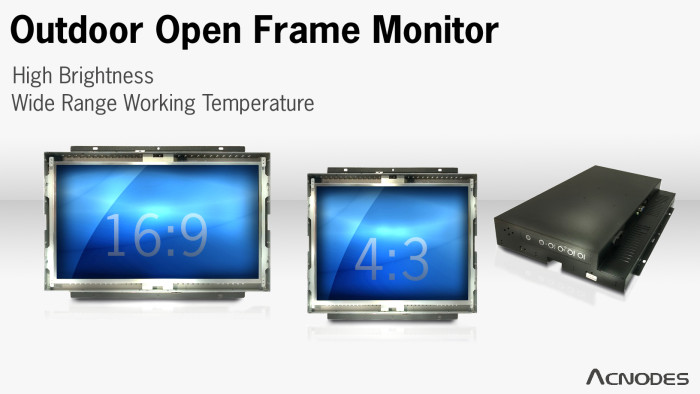 Outdoor open frame monitor