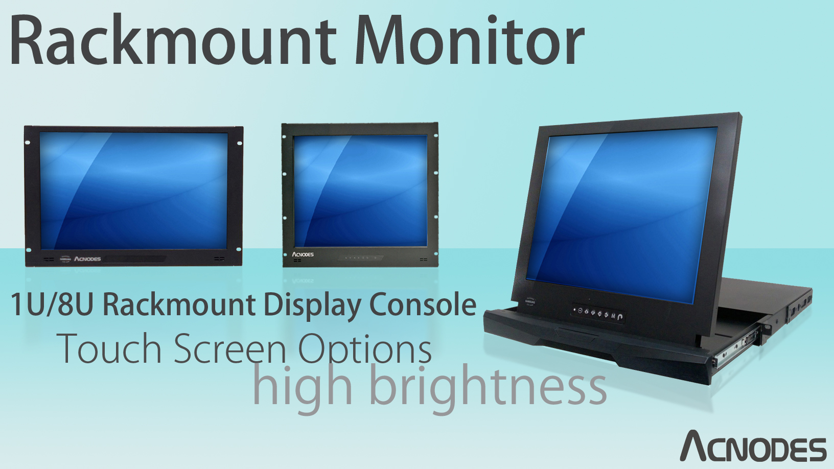 Rackmount Monitor Designed With A Emi Shield Metal