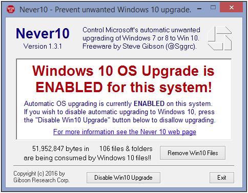 windows automatic update stop