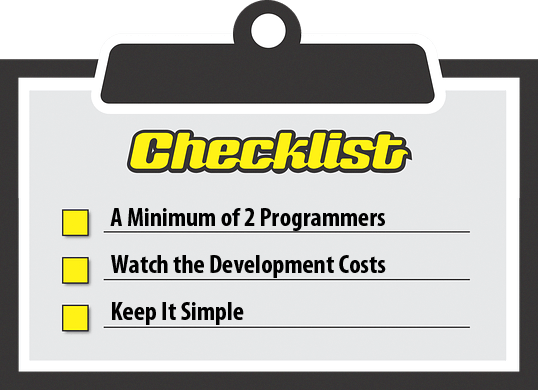 Checklist for a DIY HMI.
