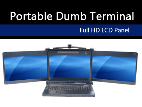 The portable dumb terminal, model PKD8175.