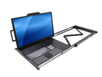 """27"""" 4K UHD Rack Console Drawer with a Keyboard and Touchpad"""