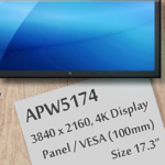 "APW5174 Features 17.3"" 4K Display LCD Panel"