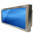 55-inch Stainless Steel Panel Mount Monitor featuring full IP65 protection - PMN80550