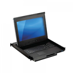 "17.3"" 4K LCD Console Drawer with an 8-port KVM Switch"