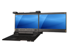 2U Dual-LCD Rack Console Drawer with Dual Slide Rail Design - KD8173D